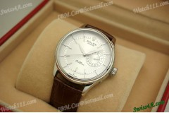 RCD50519W-Replica Rolex Cellini Date 50519 White  Automatic Watch
