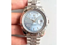 RL002DD001C3-Replica Rolex  Daydate 41MM Steel Oversize White Man Watch